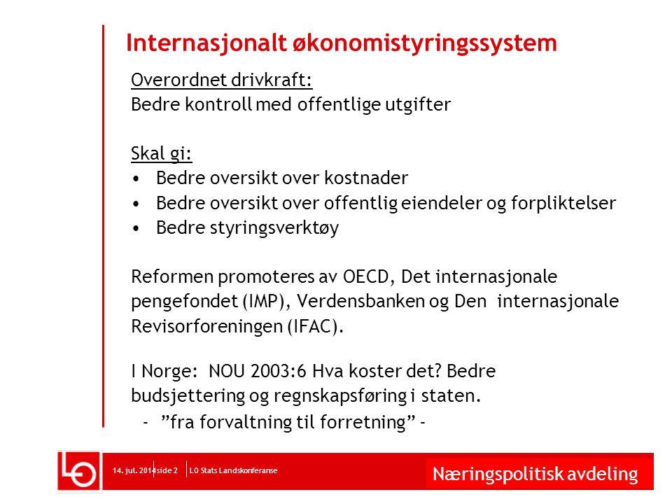 Næringspolitisk avdeling LO Stats Landskonferanse14.