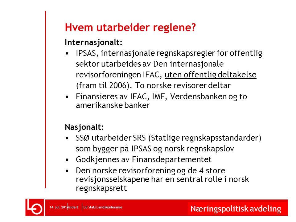 Næringspolitisk avdeling LO Stats Landskonferanse14. jul. 2014side 9