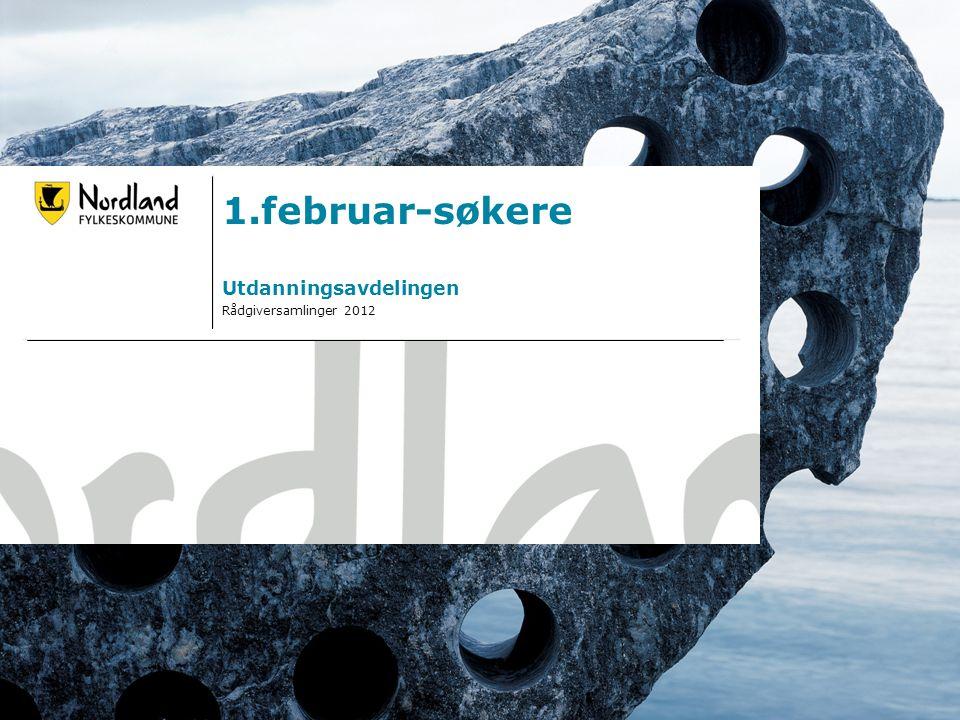 14.07.20141 1.februar-søkere Utdanningsavdelingen Rådgiversamlinger 2012
