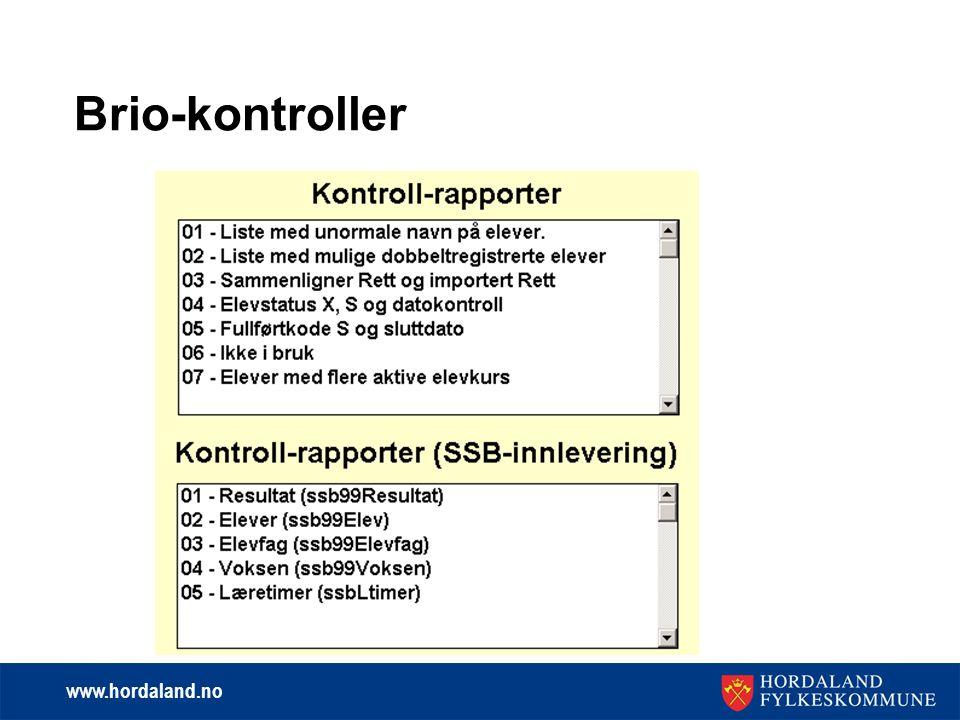www.hordaland.no Brio-kontroller