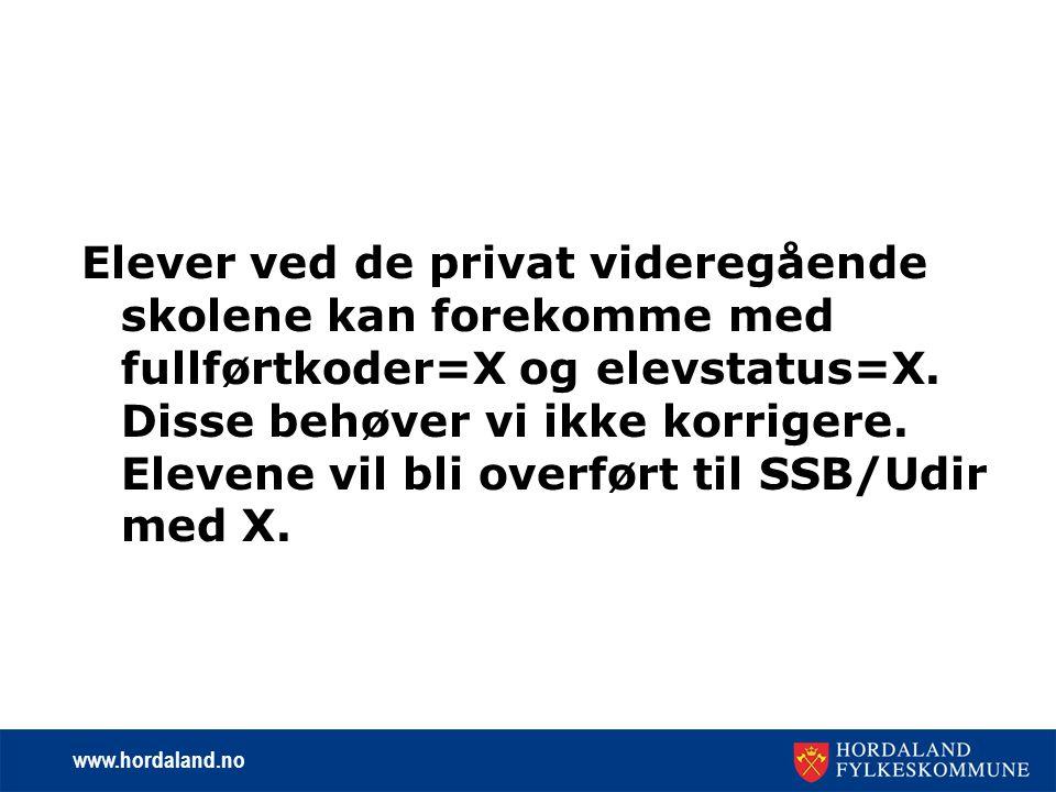 www.hordaland.no Ny fullførtkode fra skoleåret 2007-08 Det er innført en ny fullførtkode som blir gjeldende fra skoleåret 2007-2008.