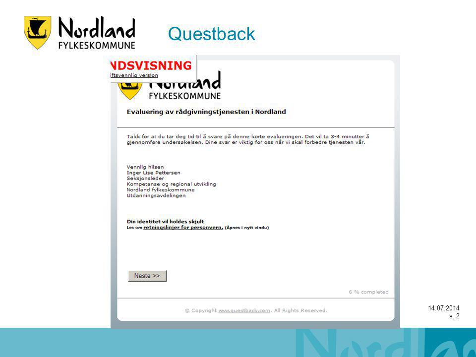 Questback 14.07.2014 s. 2