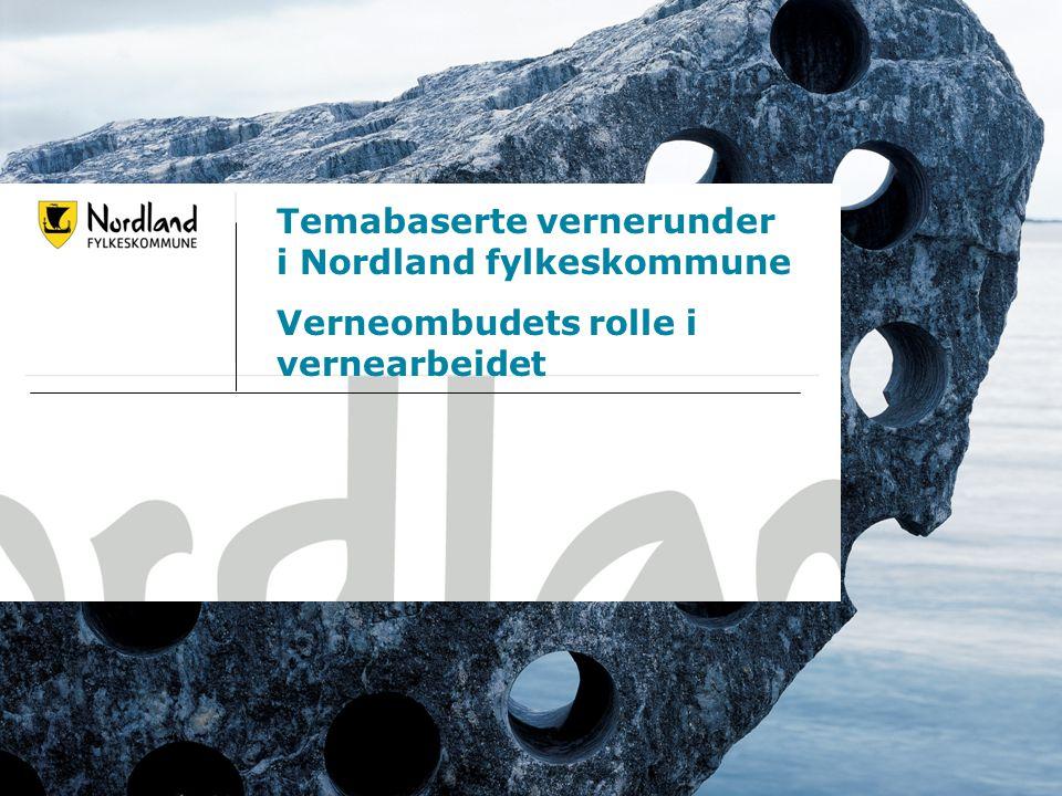 14.07.20141 Temabaserte vernerunder i Nordland fylkeskommune Verneombudets rolle i vernearbeidet