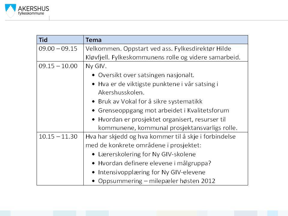 Milepæler  Søke om forsøk etter § 1-4, utarbeide opplegg for intensivopplæring.