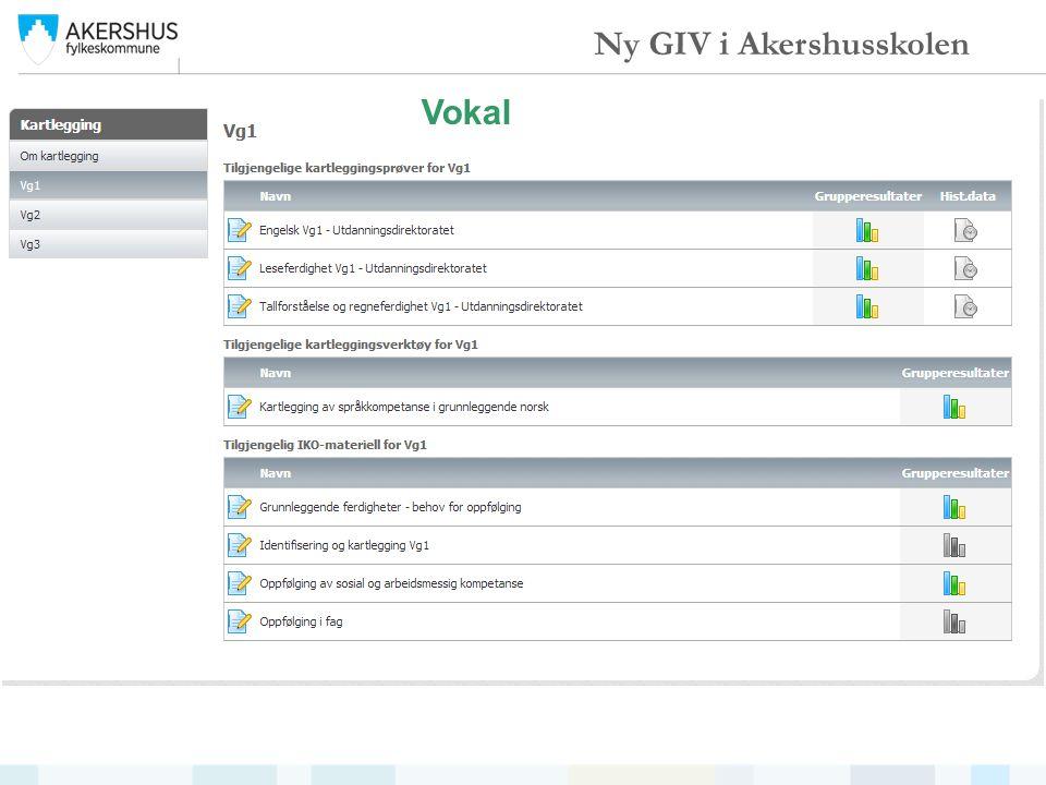 Vokal Ny GIV i Akershusskolen