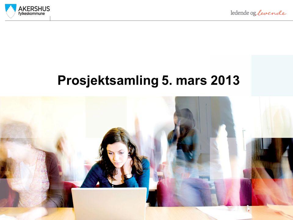 Prosjektsamling 5. mars 2013
