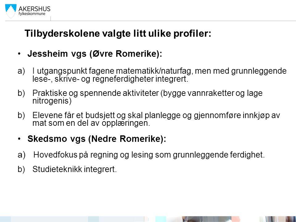 Kjelle vgs / Bjørkelangen vgs (Østre Romerike) a) Hovedfokus på læringsstrategier.