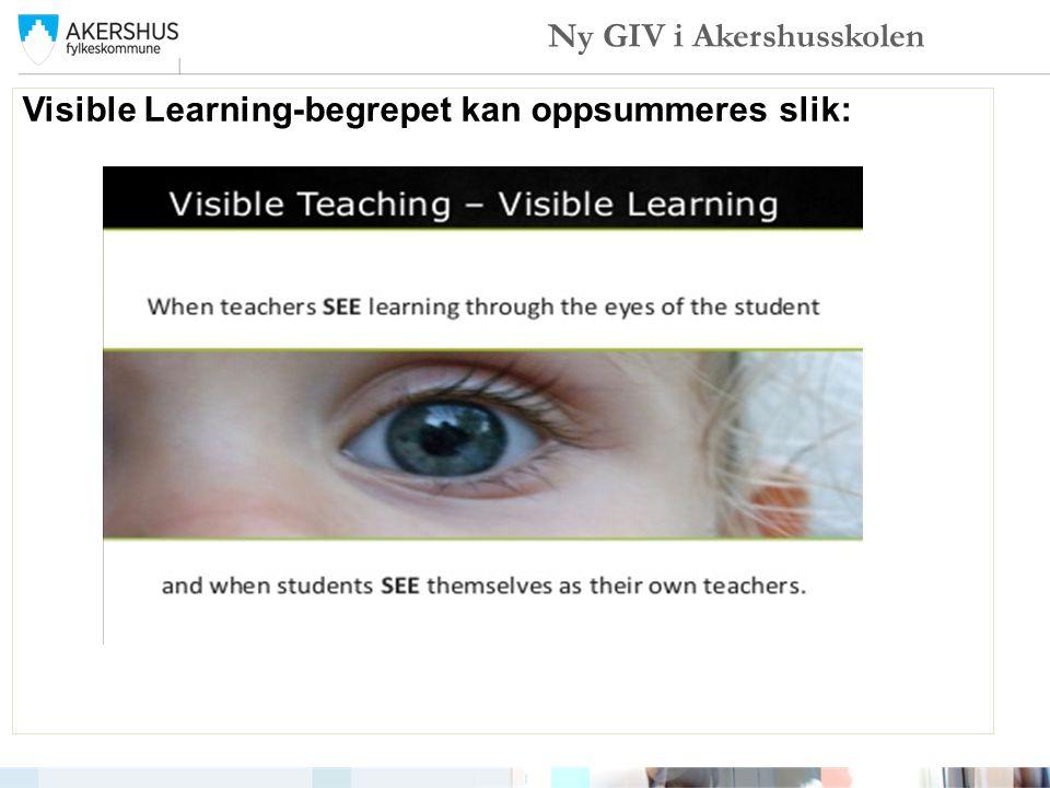 Visible Learning-begrepet kan oppsummeres slik: Ny GIV i Akershusskolen
