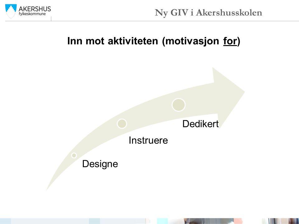 Inn mot aktiviteten (motivasjon for) Designe Instruere Dedikert Ny GIV i Akershusskolen