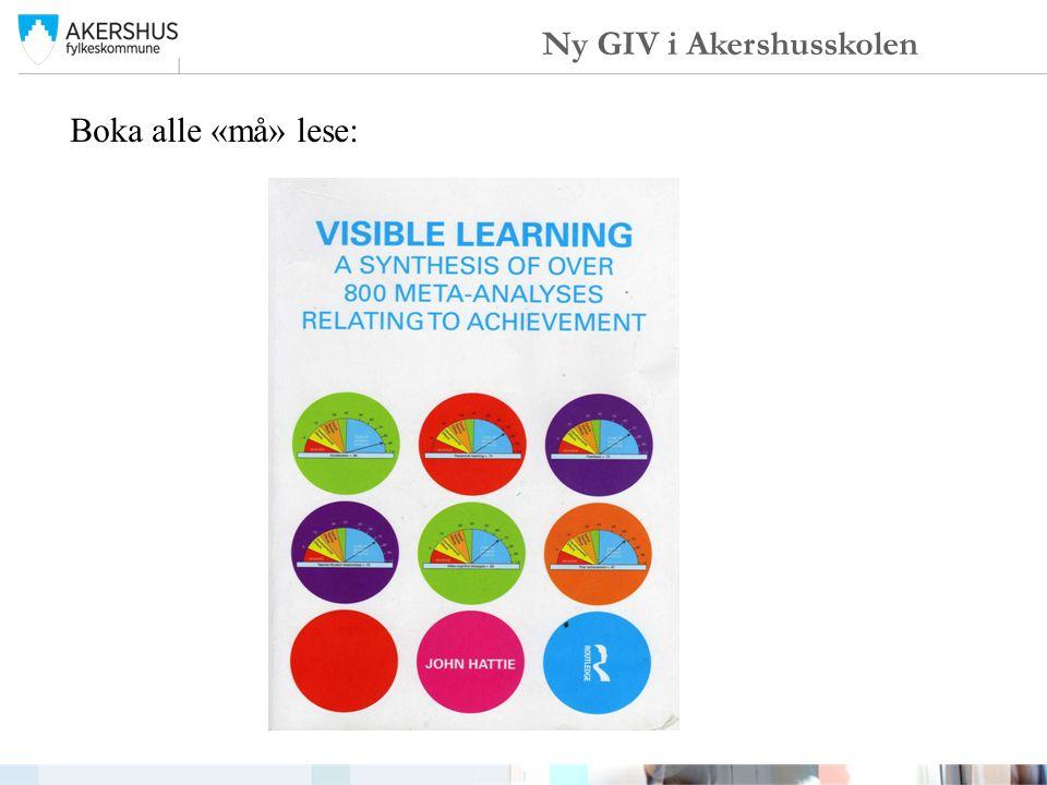 Boka alle «må» lese: Ny GIV i Akershusskolen