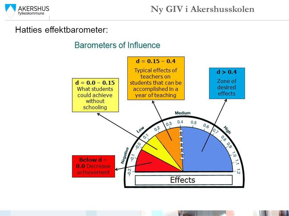 Hatties effektbarometer: Ny GIV i Akershusskolen