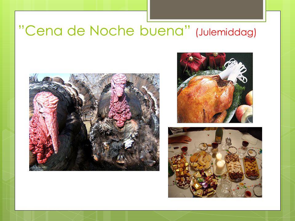 Noche de Reyes (De hellige tre kongers natt)  Butikkene er åpne til over midnatt  Cabalgata de reyes er en parade der barn står i fokus  Gaver blir plassert ved siden av nypussede sko om natten, men åpnes først neste morgen