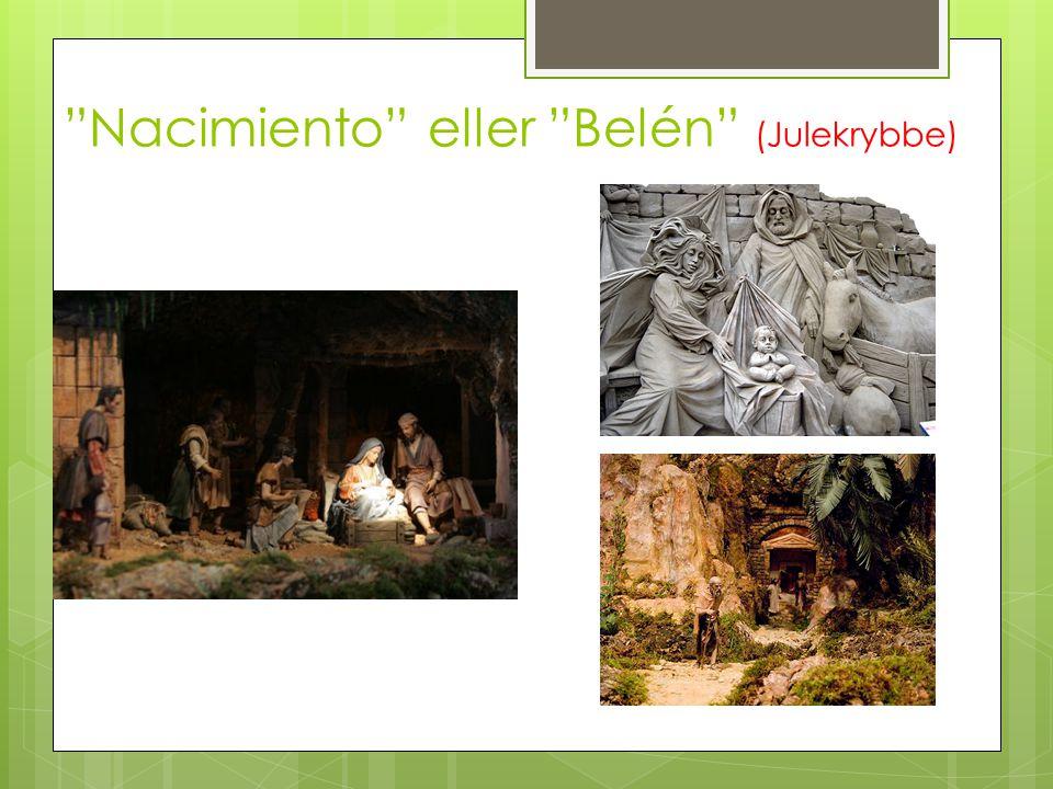 """""""Nacimiento"""" eller """"Belén"""" (Julekrybbe)"""