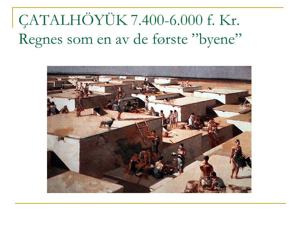 "ÇATALHÖYÜK 7.400-6.000 f. Kr. Regnes som en av de første ""byene"""