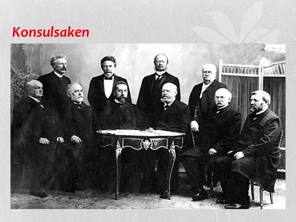 Konsulsaken på 1890-tallet krevde Venstre egne konsuler til å ivareta norske interesser i utlandet, noe som Sverige motsatte seg Saken ble svært vansk