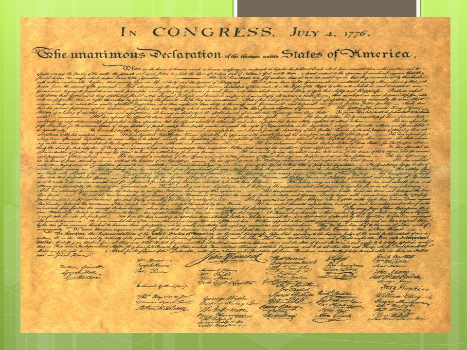 Amerikanske revolusjonen  På 1760-tallet: Konflikter mellom Storbritannia og nordamerikanske kolonier pga.