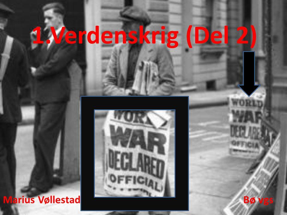 1.Verdenskrig (Del 2) Marius Vøllestad Bø vgs