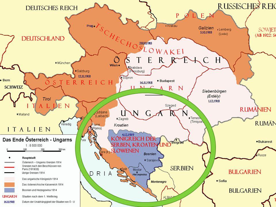 Versaillestraktaten  Lederne for seiersherrene møttes i Versailles utenfor Paris etter krigen  Målet var å avgjøre hva som skulle skje med Tyskland  Østerrike-Ungarn ble delt  Tyrkia mistet de fleste av sine provinser  Mange nye stater ble opprettet