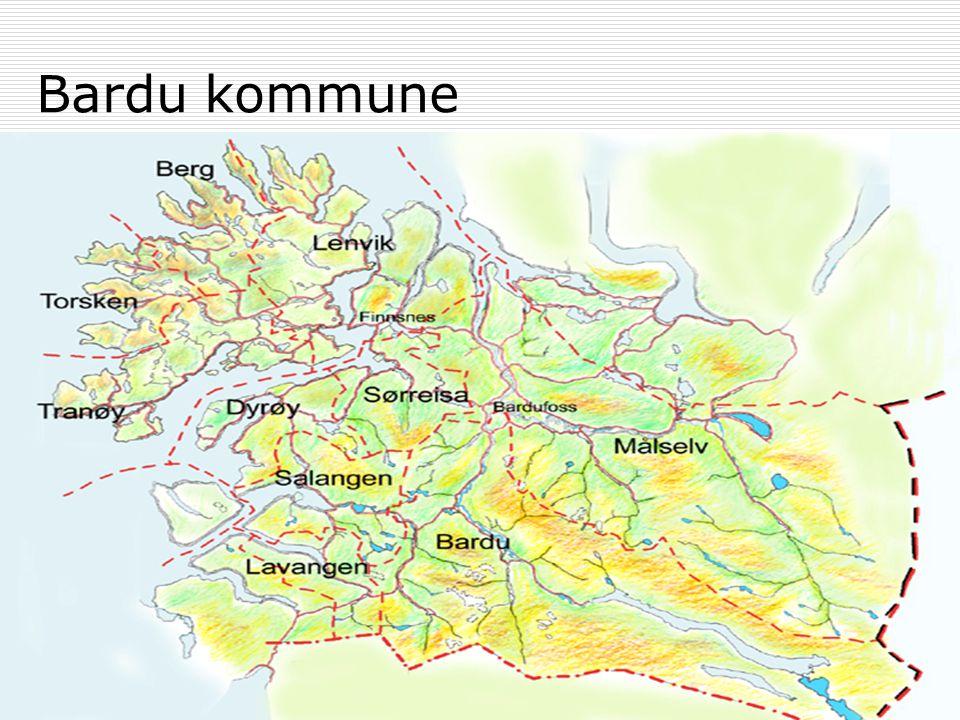 DMS Midt-Troms Der helse sprenger grenser Bardu kommune  3.855 innbyggere  Forsvarskommune  Har en sterk primærhelsetjeneste  Har Troms militære sykehus, med poliklinikk og røntgen også for sivile  Ønsker å etablere legevakt for Midt- Troms innland