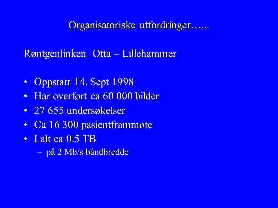 Organisatoriske utfordringer…... Røntgenlinken Otta – Lillehammer Oppstart 14.