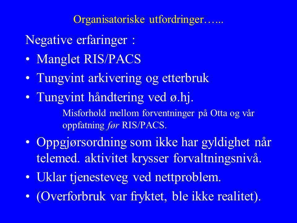 Organisatoriske utfordringer…...