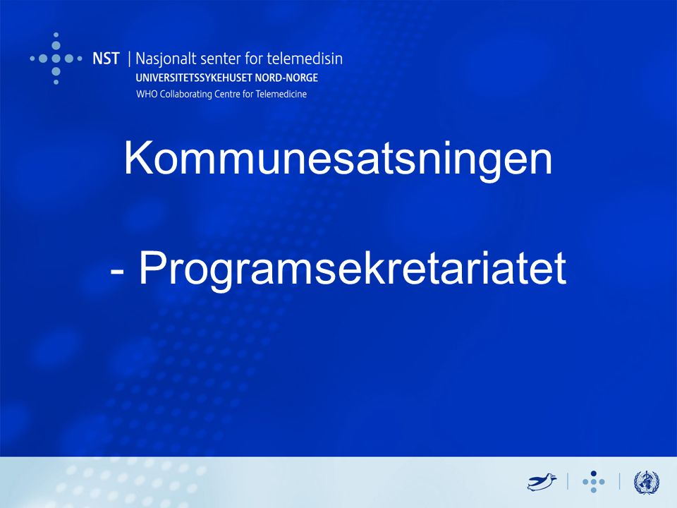 Kommunesatsningen - Programsekretariatet