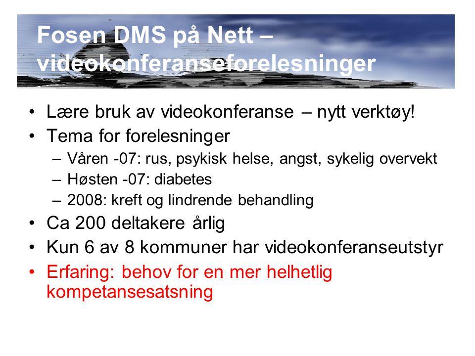 Søknad om NettOpp Fosen En kompetansekoordinator En kompetanseplan Kommunale ressursbaser Eget kursrom/fagnett i Helsekompetanse.no