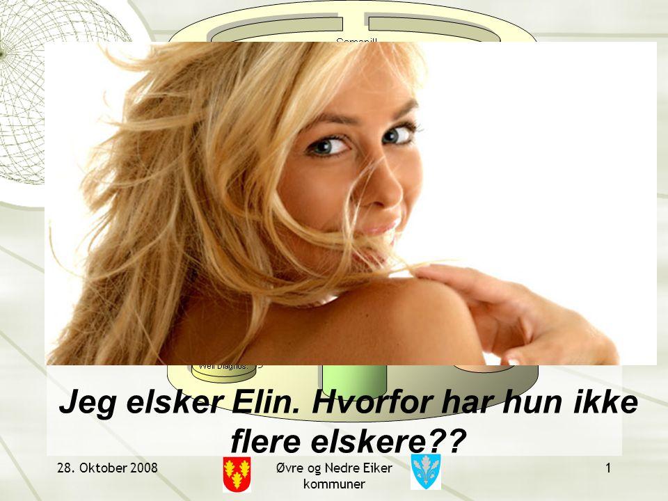 28. Oktober 2008Øvre og Nedre Eiker kommuner 1 Jeg elsker Elin. Hvorfor har hun ikke flere elskere??