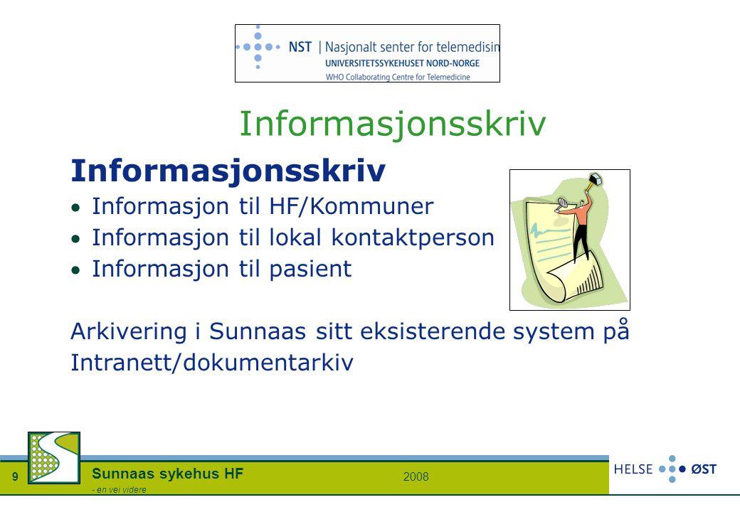20089 Sunnaas sykehus HF - en vei videre Informasjonsskriv Informasjon til HF/Kommuner Informasjon til lokal kontaktperson Informasjon til pasient