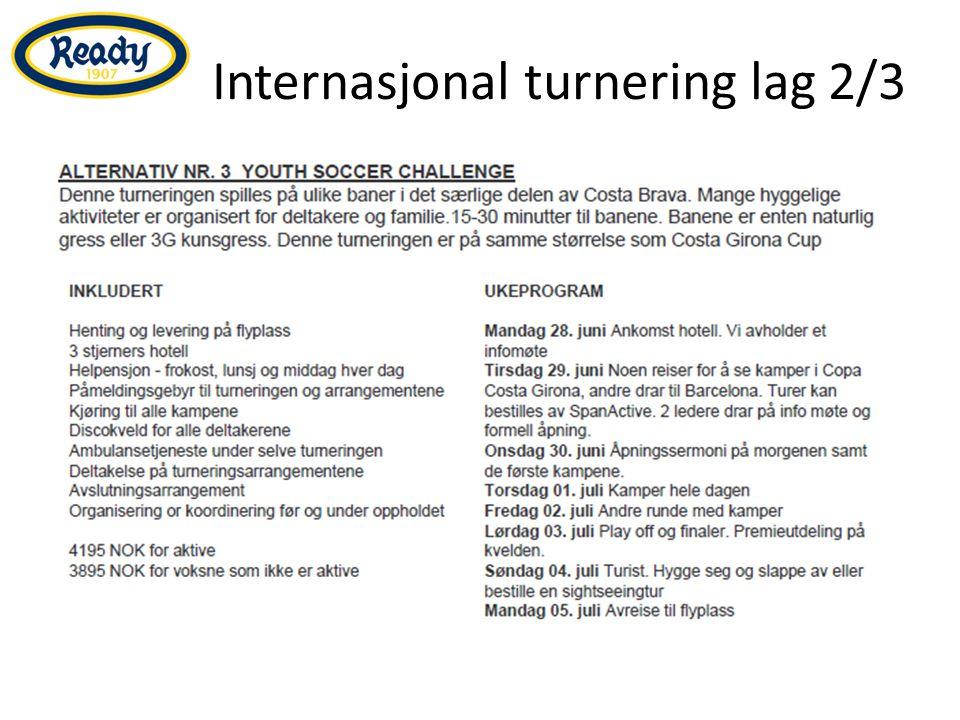 Internasjonal turnering lag 2/3