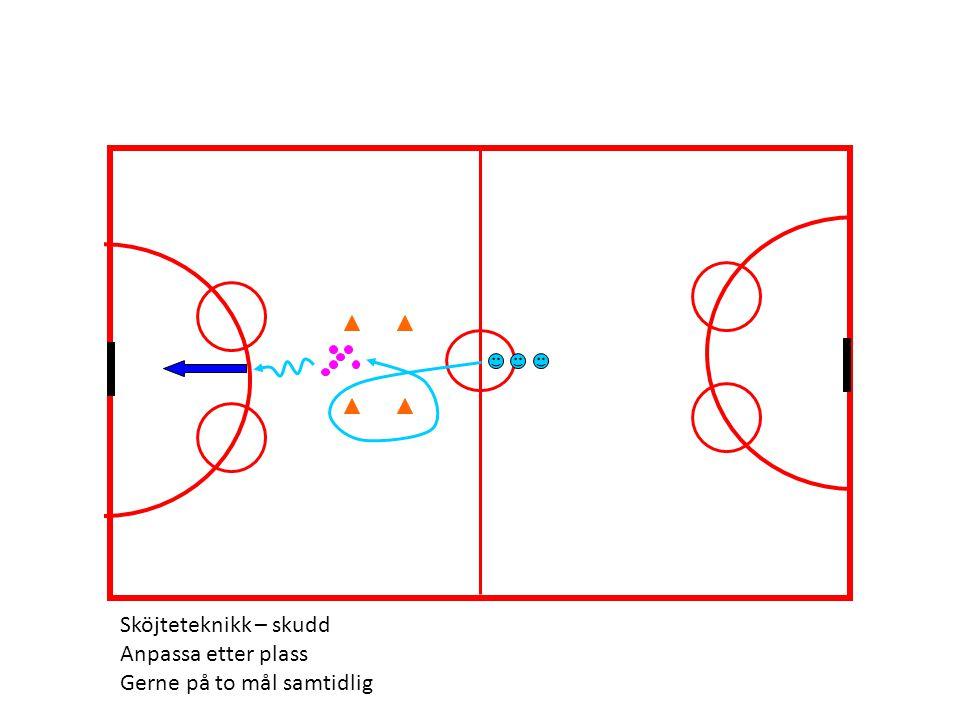 Sköjteteknikk – skudd Anpassa etter plass Gerne på to mål samtidlig