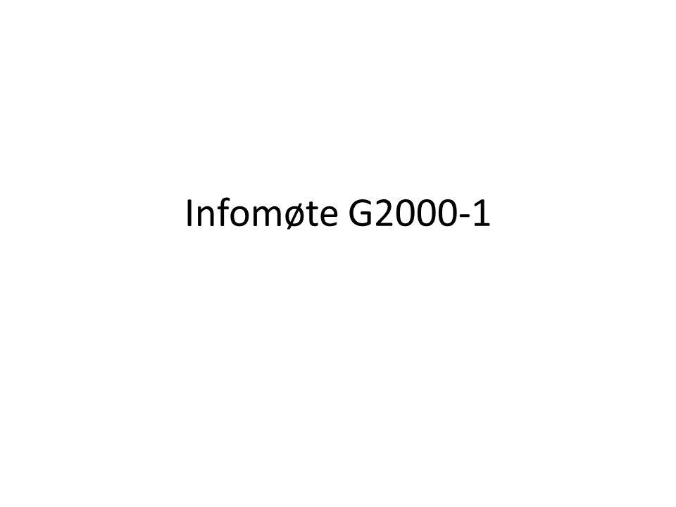 Infomøte G2000-1