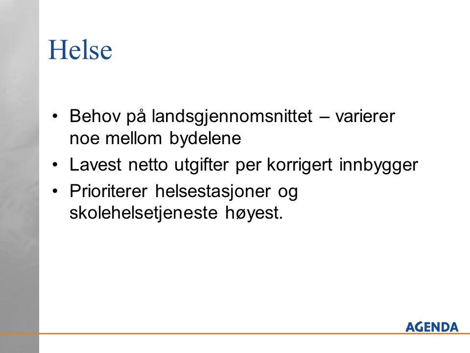 Produktivitet hjemmetjenesten Del A: Bergen omtrent på nivå med gjennomsnittet ved sammenligning av brutto driftsutgifter per hjemmetjenestebruker.