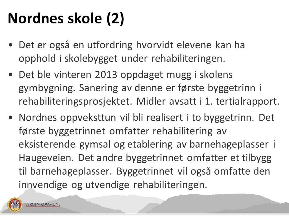 Nordnes skole (3) Strakstiltak: Sanering av skolens gymsal.