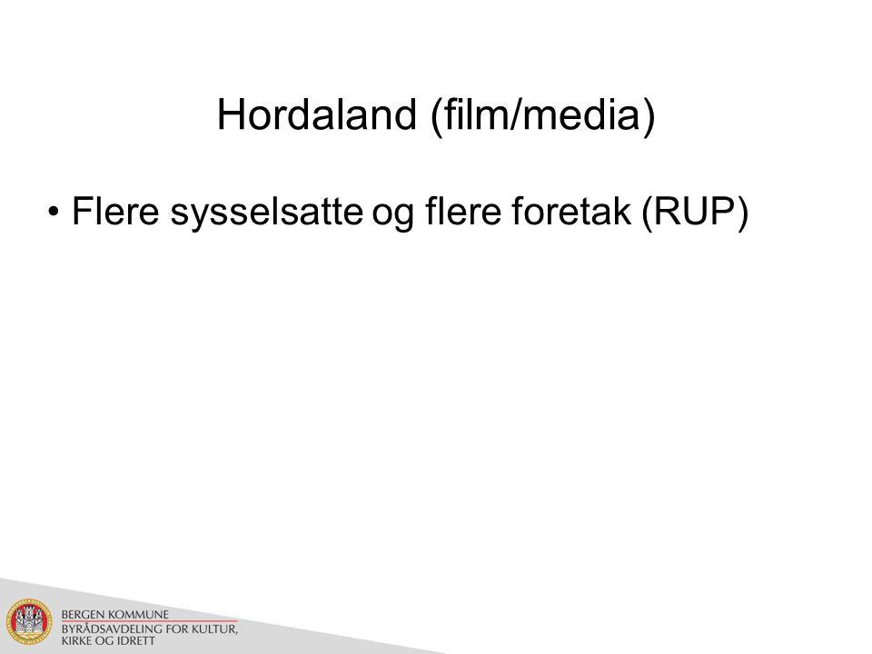 Hordaland (film/media) Flere sysselsatte og flere foretak (RUP)