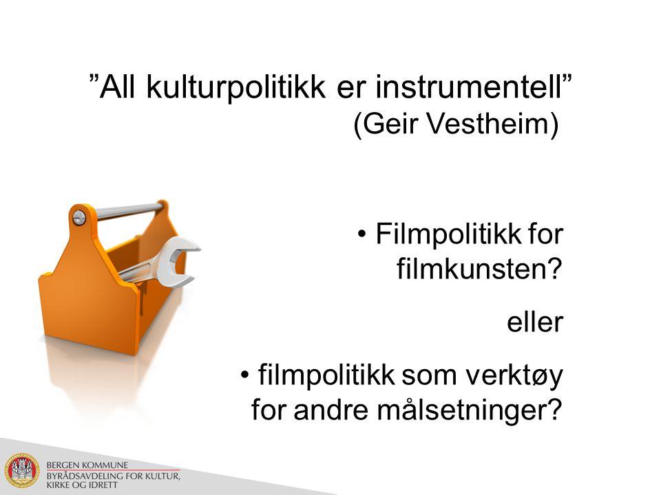 Kino: Bredde i kinorepertoaret, og ivaretakelse av norsk, nordisk og europeisk produksjon (kinopolitikkutvalget 2001) Festivaler: Kunstnerisk profil og program, herunder målgruppe, egenart og bredde (forskrift om filmfestivaler 2008) Norge (kino/festival)