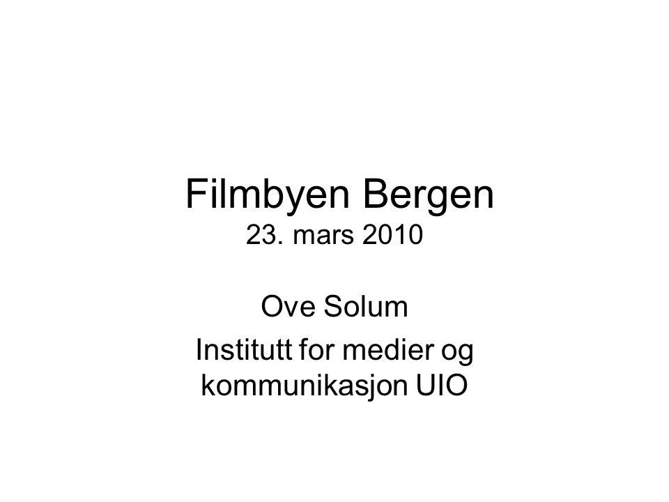 Institutt for medier og kommunikasjon (IMK) 11 Public service kino ?
