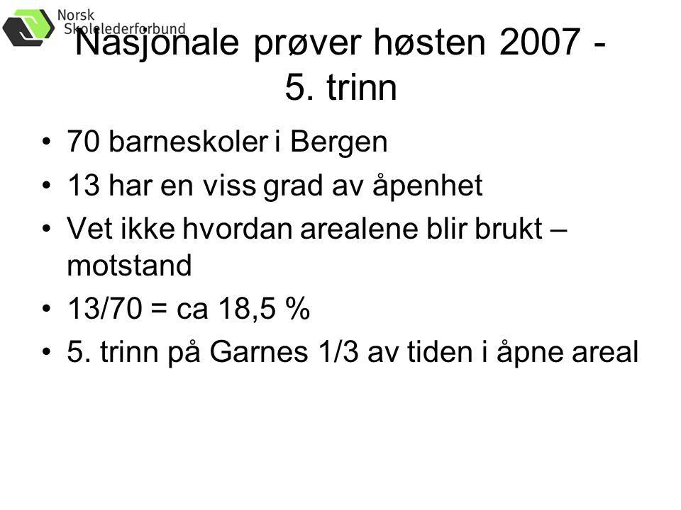 Nasjonale prøver høsten 2007 - 5.