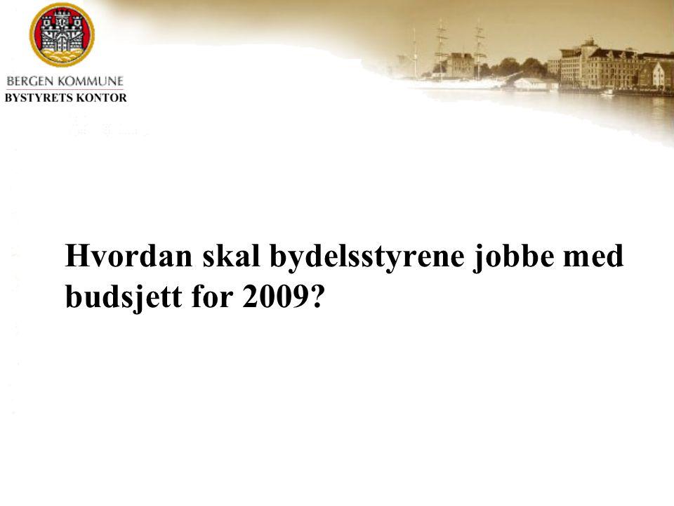 Hvordan skal bydelsstyrene jobbe med budsjett for 2009