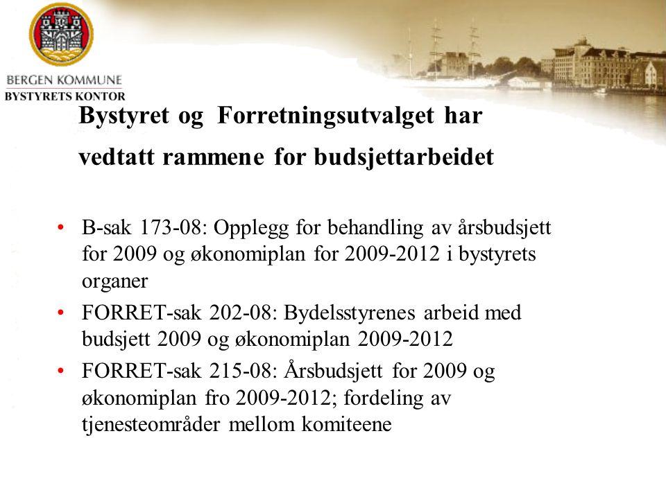 Hvilke deler av budsjett skal bydelsstyrene jobbe med.