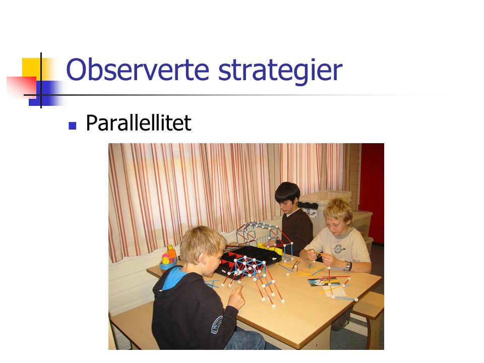 Observerte strategier Parallellitet