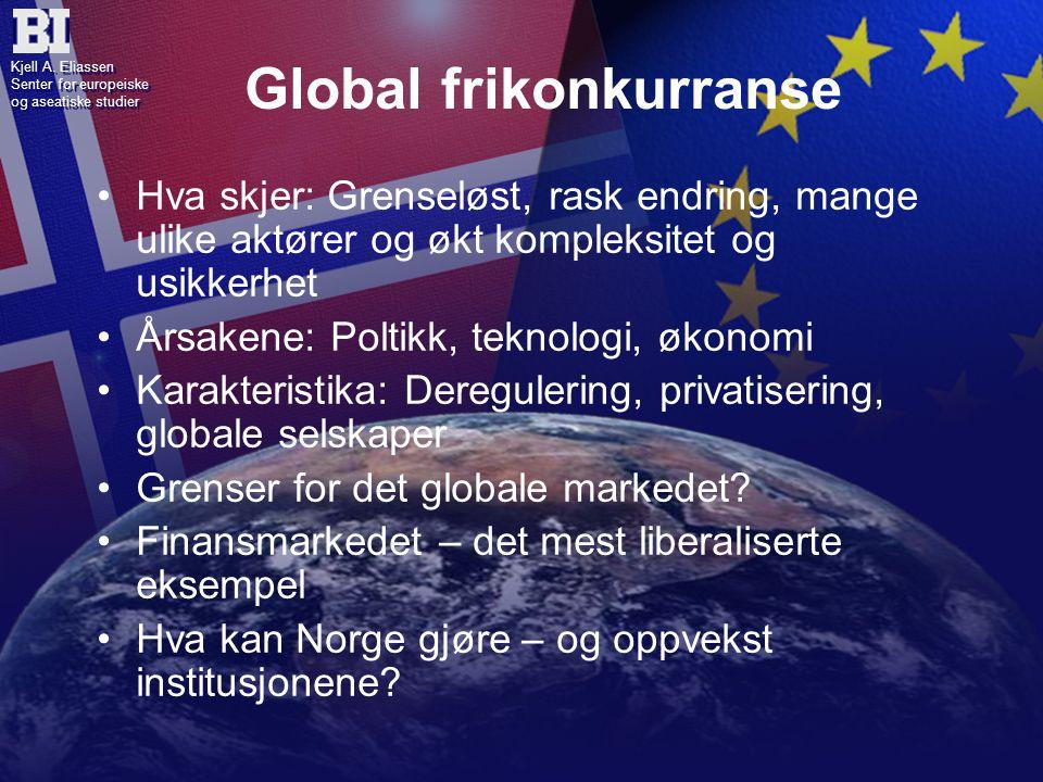 Kjell A. Eliassen Senter for europeiske og aseatiske studier Kjell A.