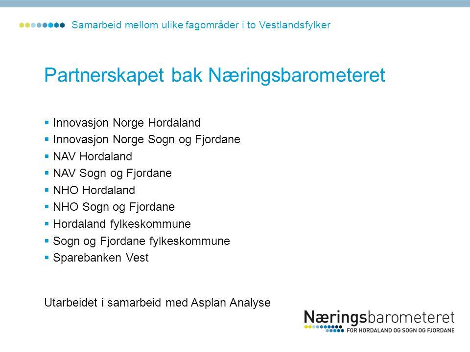 Partnerskapet bak Næringsbarometeret  Innovasjon Norge Hordaland  Innovasjon Norge Sogn og Fjordane  NAV Hordaland  NAV Sogn og Fjordane  NHO Hor