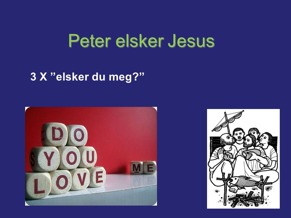 """Peter elsker Jesus 3 X """"elsker du meg?"""""""