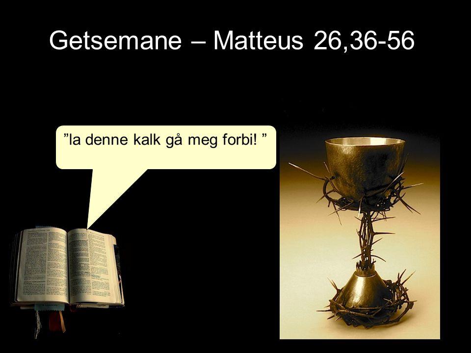 """Getsemane – Matteus 26,36-56 """"la denne kalk gå meg forbi! """""""