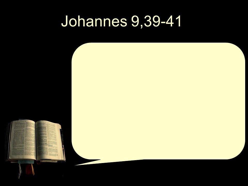 Johannes 9,39-41