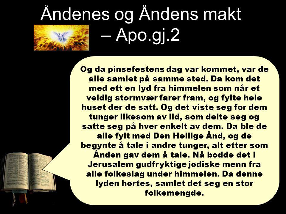 Åndenes og Åndens makt – Apo.gj.2 Og de ble forvirret fordi de hørte dem tale enhver på sitt eget språk.
