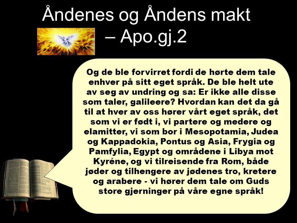 Den Hellige Ånd sin makt 6.Glede og trygghet Romerne 12,11-12 Vær ikke lunkne i iveren.