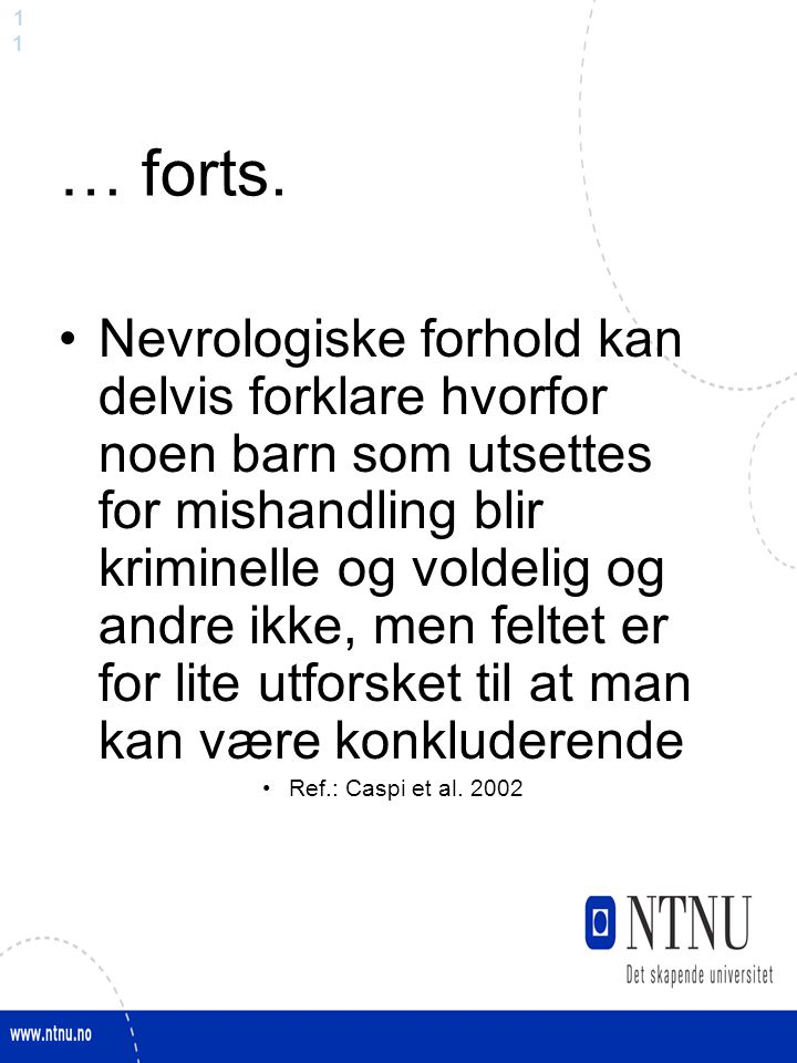 1 … forts.