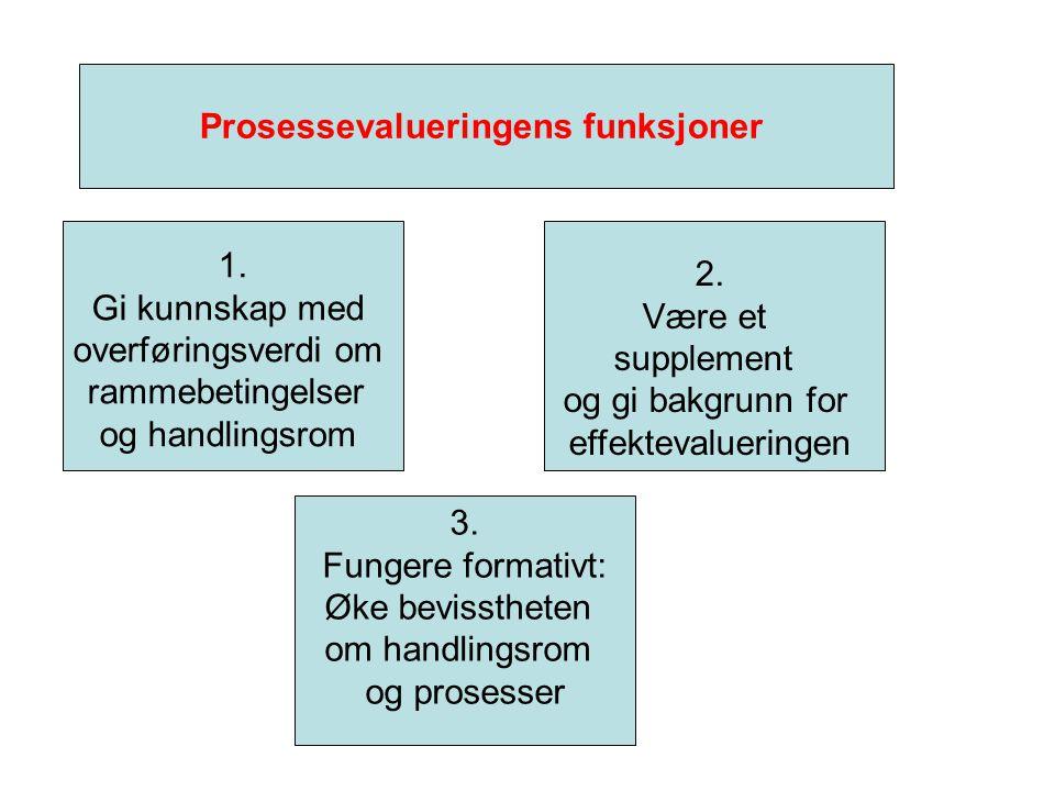 Prosessevalueringens funksjoner 1.